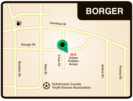 Map of the Borger RV Park Location