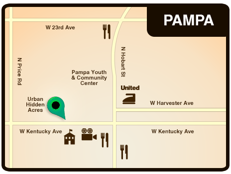 Map of the Pampa RV Park Location