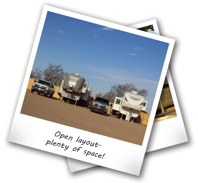 Picture of the open layout of the RV Park in Borger