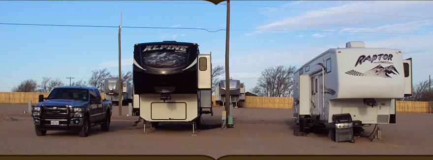 Picture of two travel trailers in our park